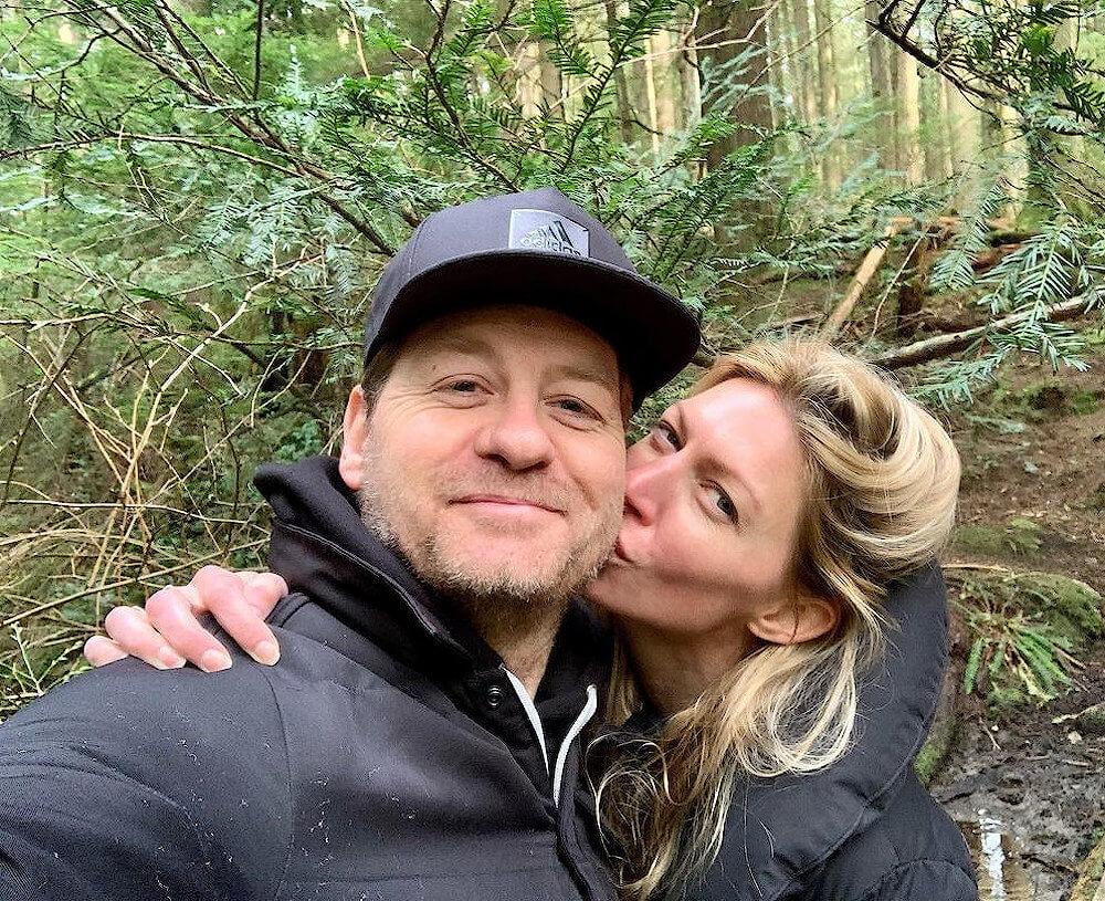 Jes Macallan and current husband Nicholas Bishop