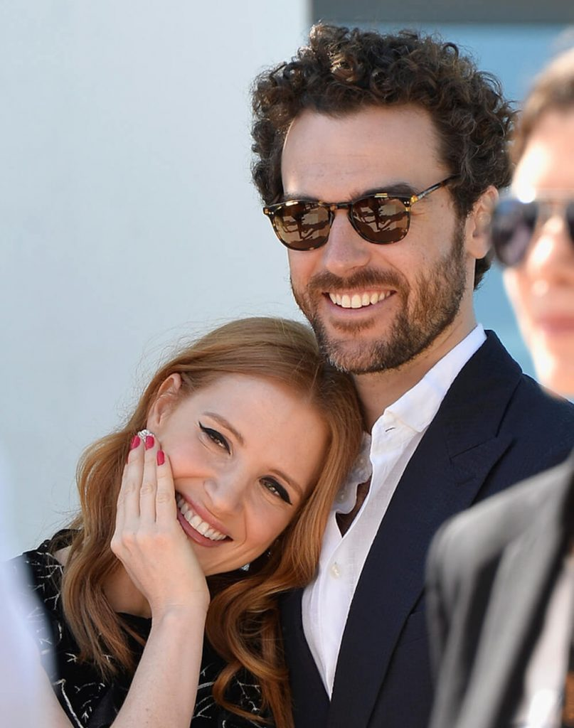 Jessica Chastain with husband Gian Lusa Passi