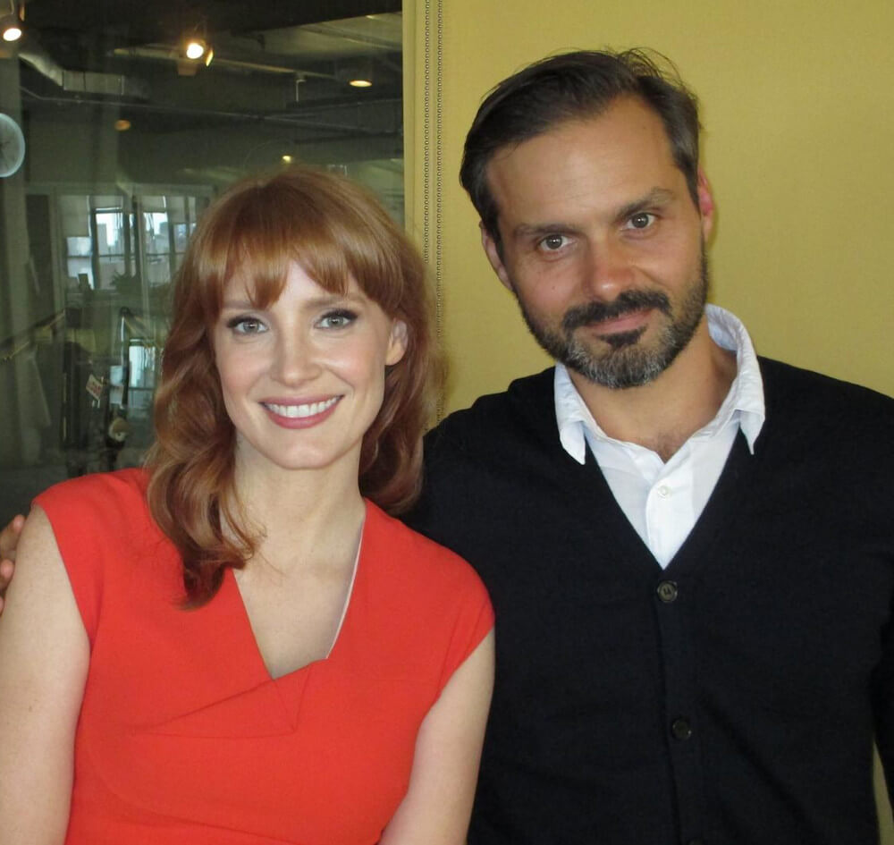 Jessica Chastain and ex boyfriend Ned Benson