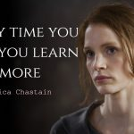 Jessica Chastain quotes about failing