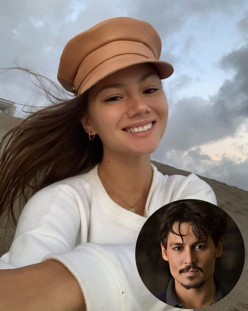 Johnny Depp and girlfriend Polina Glen