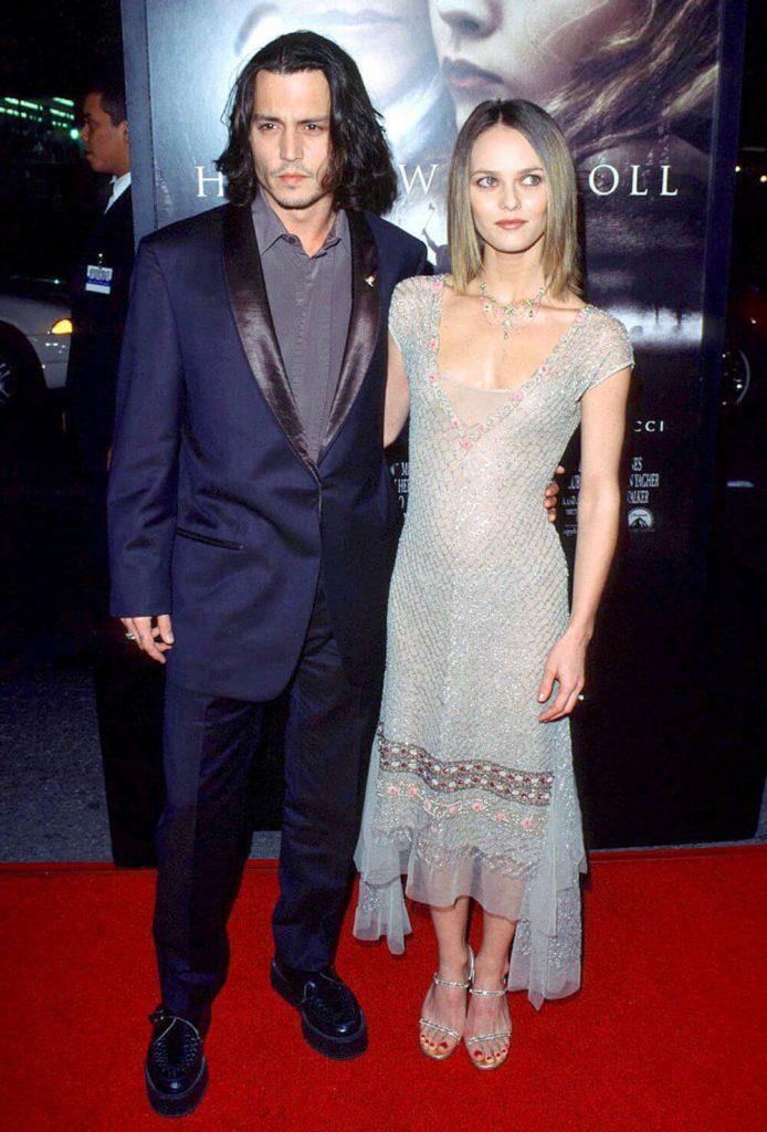 Johnny Depp and ex girlfriend Vanessa Paradis