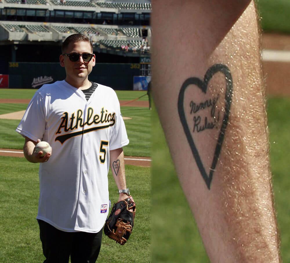 Jonah Hill nancy rules tattoo