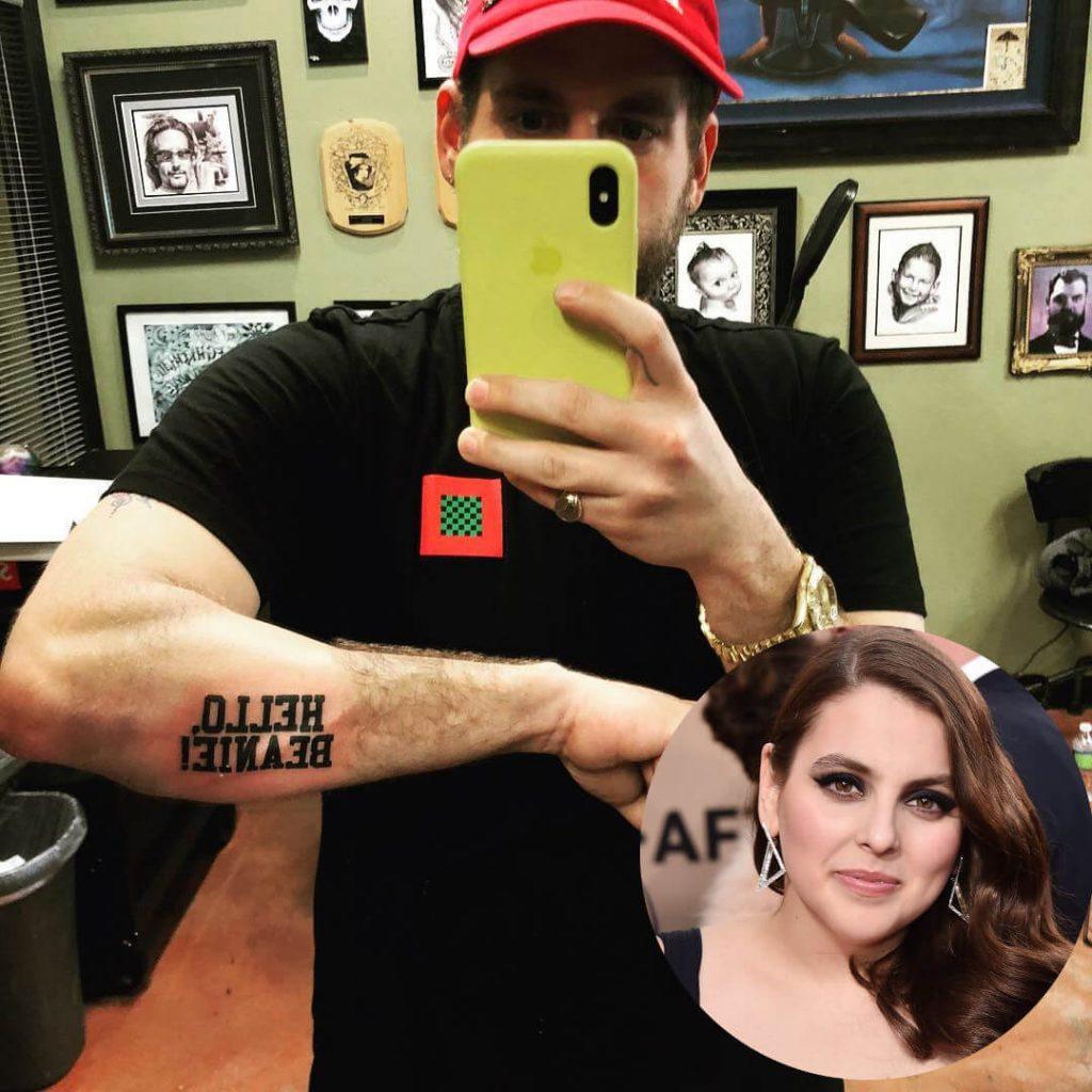 Jonah Hill his sister name tattoo