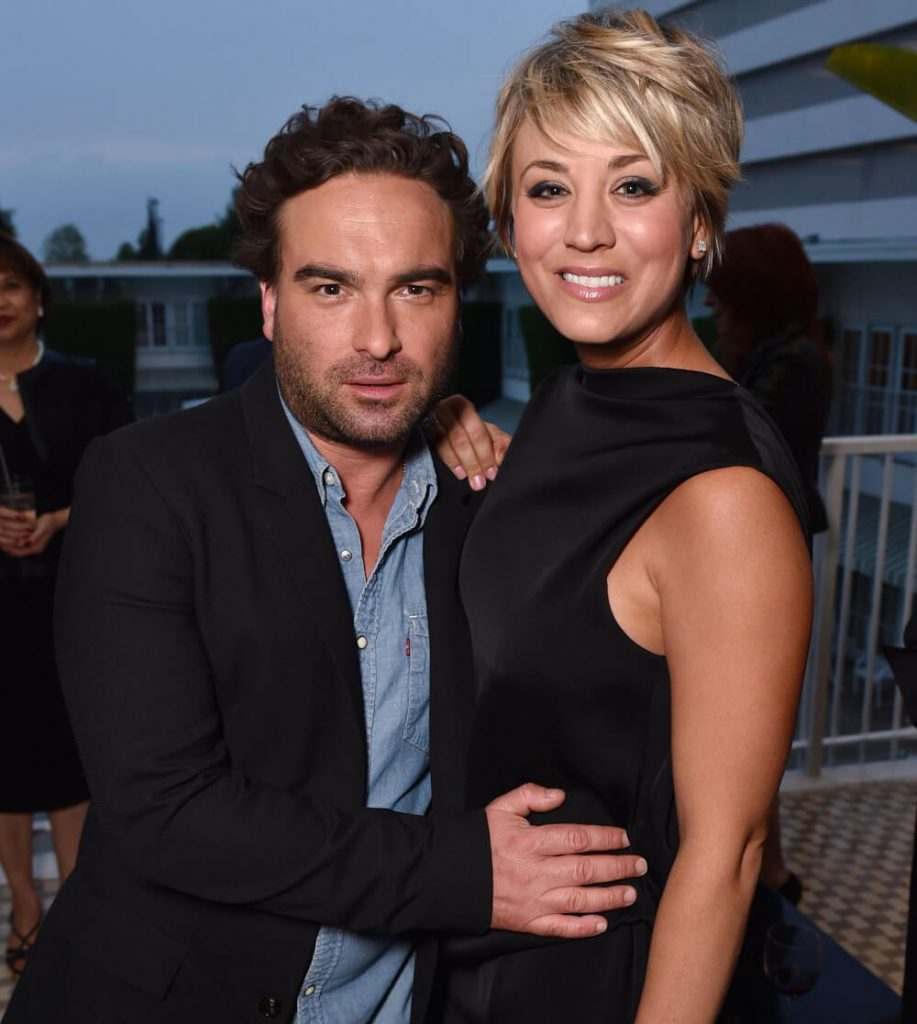 Kaley Cuoco and ex Johnny Galecki