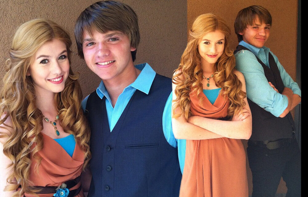 Katherine McNamara and ex boyfriend Joel Courtney