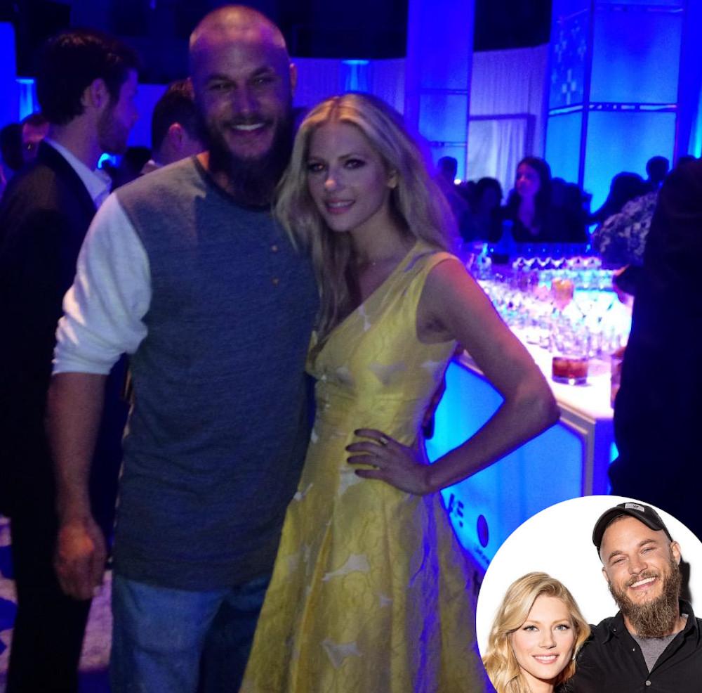 Katheryn Winnick with her co-star Travis Fimmel