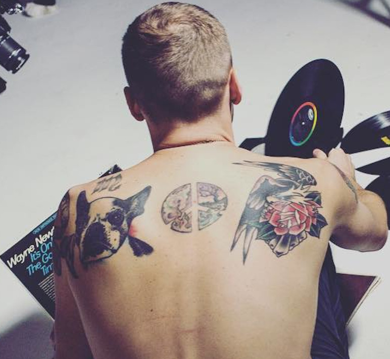 Kendall Schmidt Back Tattoos