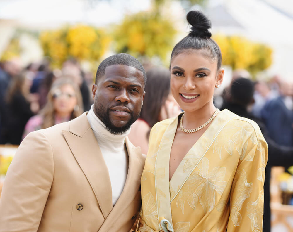 Kevin Hart and his current wife Eniko Parrish