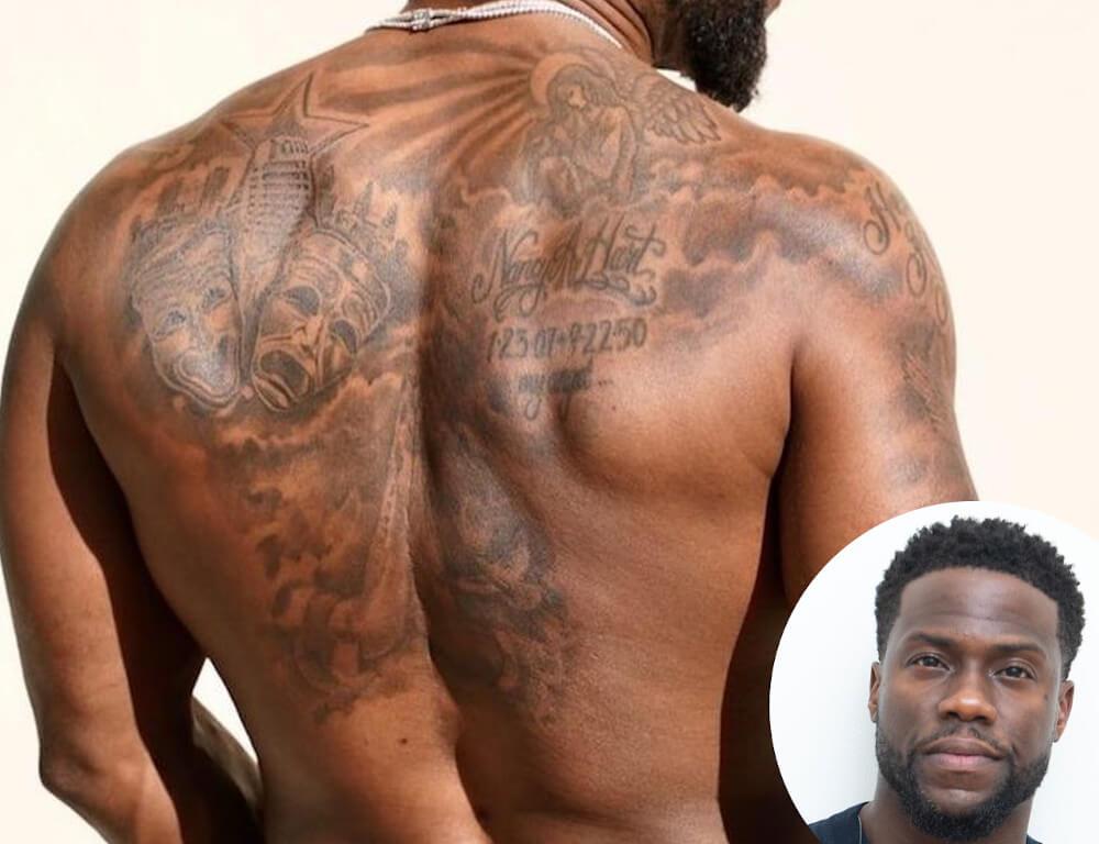 Kevin Hart back tattoo