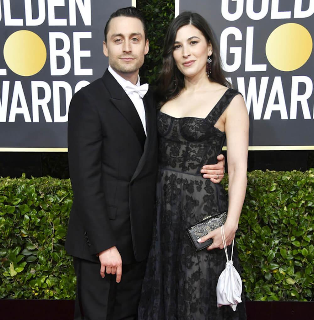 Kieran Culkin with wife Jazz Charton at Golden Globes 2020