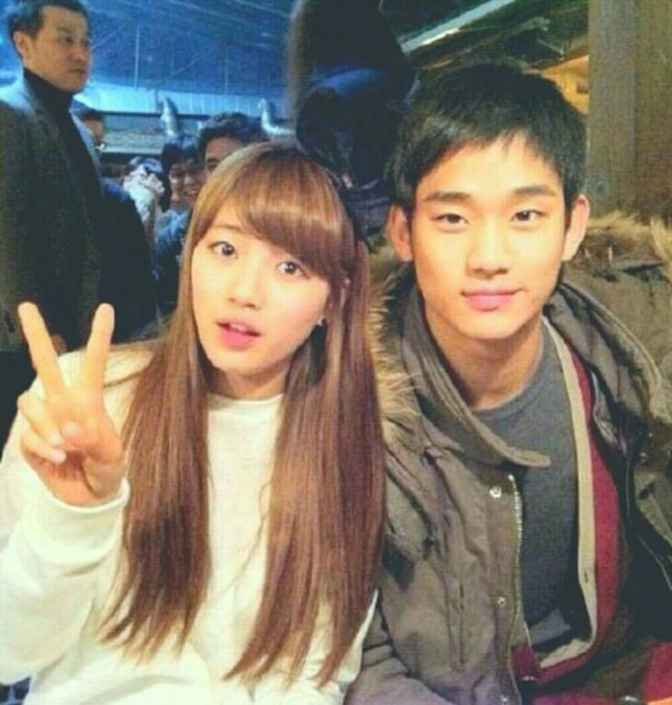 Kim Soo-Hyun with ex girlfriend Bae Suzy