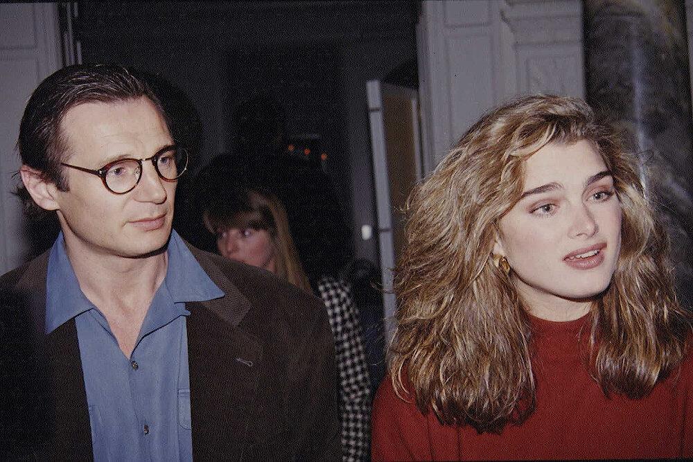 Liam Neeson and ex girlfriend Brooke Shields