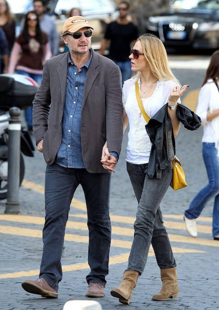 Liam Neeson and girlfriend Freya St Johnston