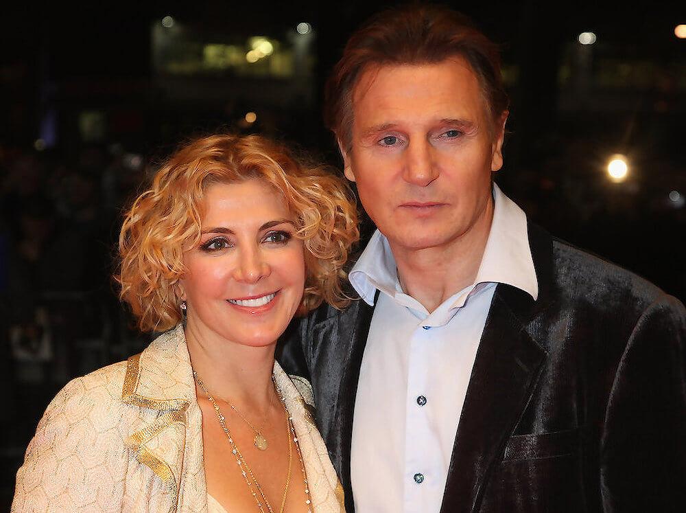 Liam Neeson with wife Natasha Richardson