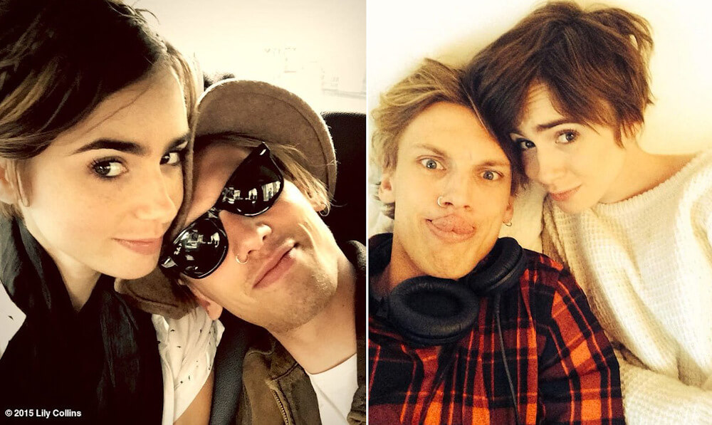 Lily Collins and ex boyfriend Jamie Campbell