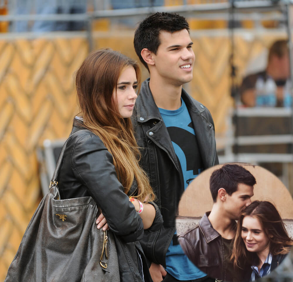 Lily Collins was dating twilight star Taylor Lautner