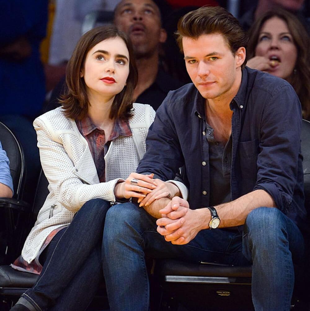 Lily Collins and ex boyfriend Thomas Cocquerel