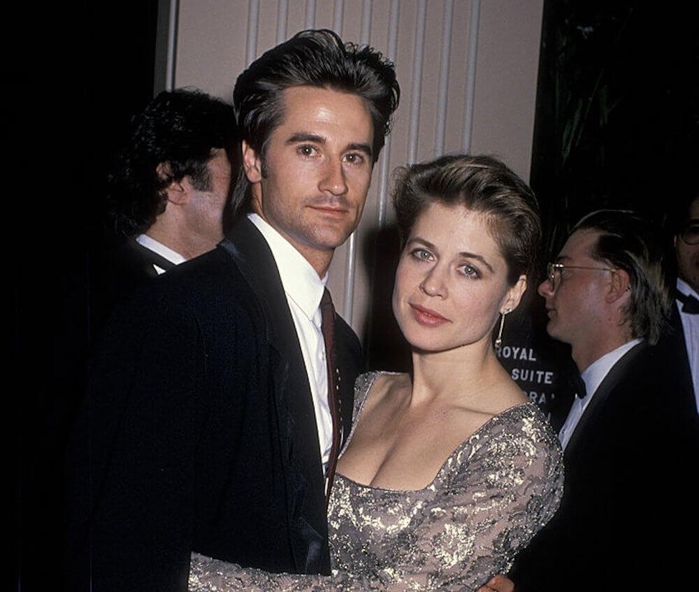 Linda Hamilton and first husband Bruce Abbott