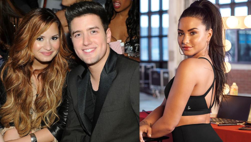 Logan Henderson with Demi Lovato