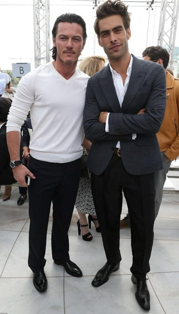 Luke Evans and ex boyfriend Jon Kortajarena