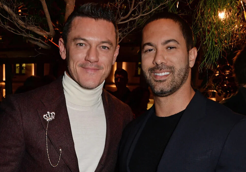 Luke Evans and ex Victor Turpin