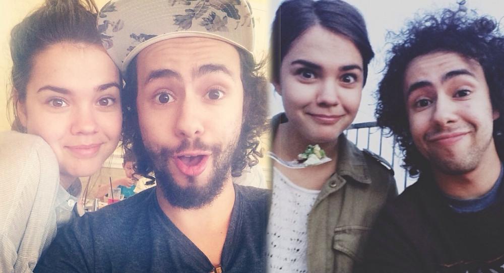 Maia Mitchell with boyfriend Ramy Youssef