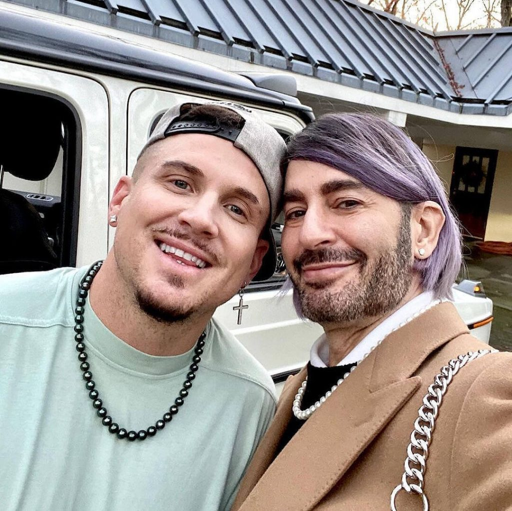 Marc Jacobs and husband Charly Defrancesco