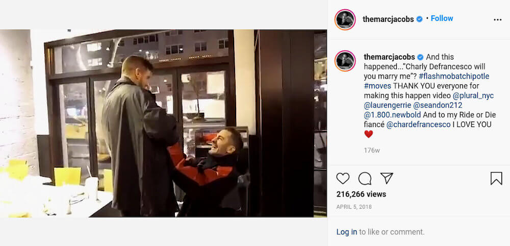 Marc Jacobs and husband Charly Defrancesco Instagram