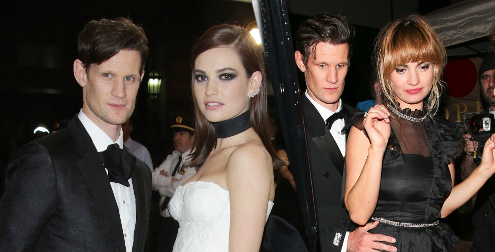 Lily James with boyfriend Matt Smith