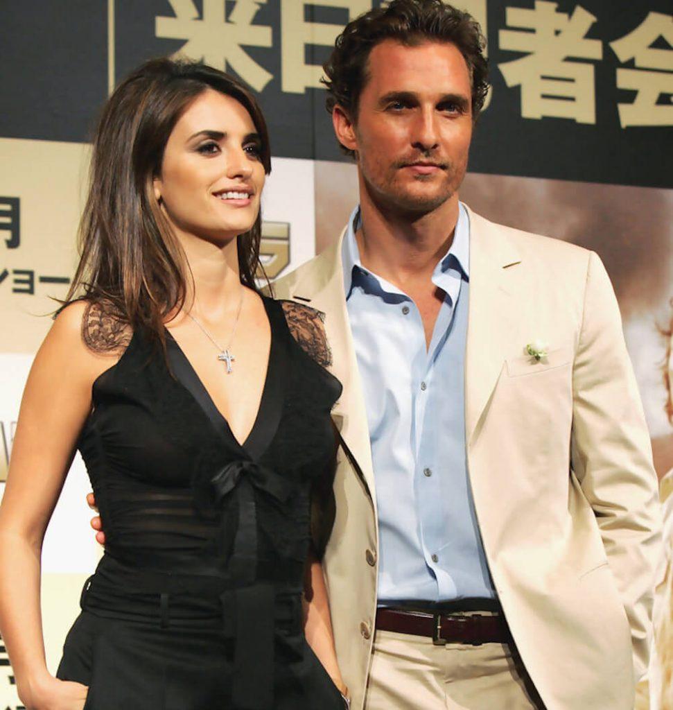 Matthew McConaughey and ex girlfriend Penelope Cruz