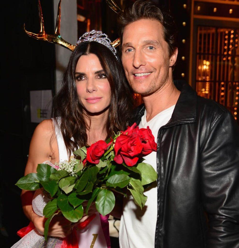Matthew McConaughey with ex Sandra Bullock