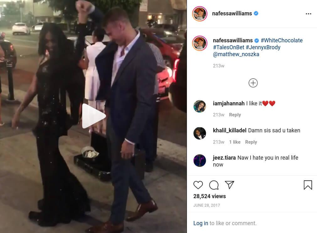 Matthew Noszka and Nafessa Williams Dancing Instagram