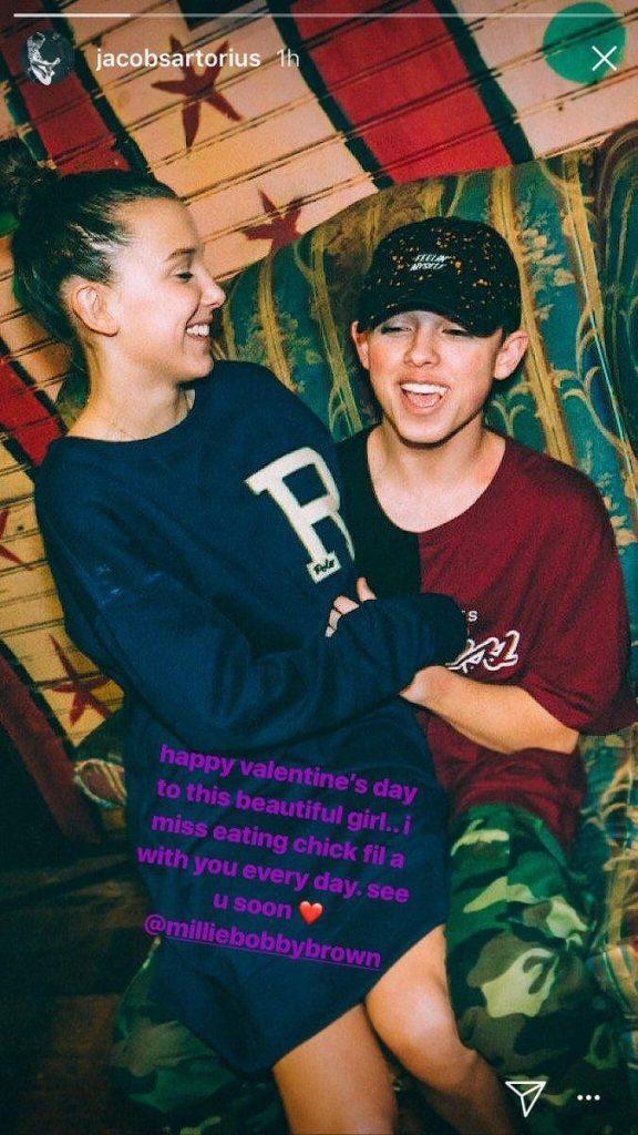 Millie Bobby Brown and her first boyfriend Jacob Sartorius