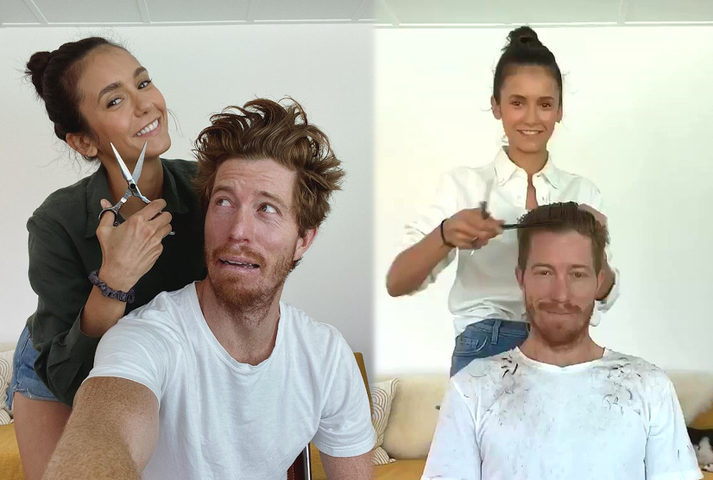 Nina Dobrev and Shaun White quarantining together 2020