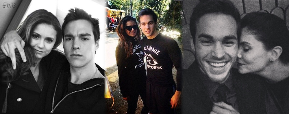 Nina Dobrev with ex boyfriend Chris Wood