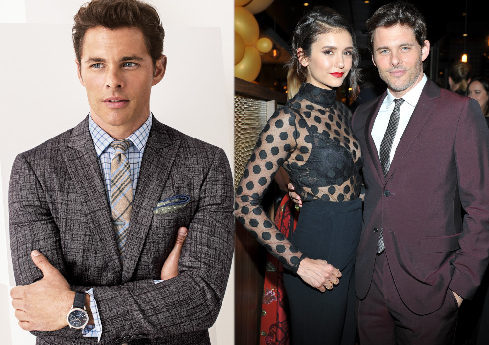 Nina Dobrev with ex boyfriend James Marsden