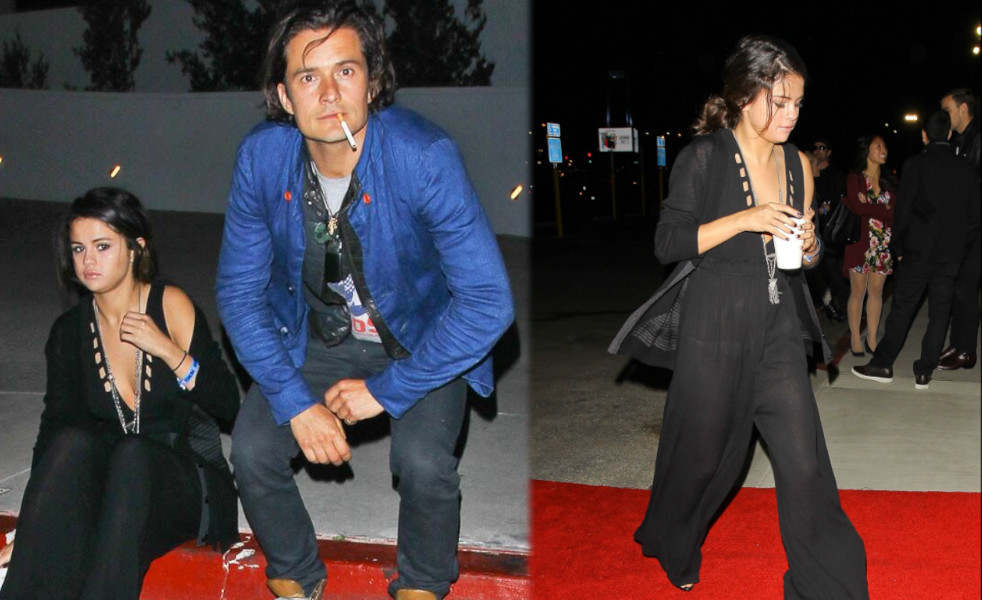 Orlando Bloom with Girlfriend Selena Gomez