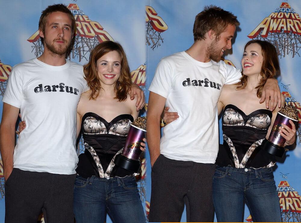 Rachel McAdams and ex boyfriend Ryan Gosling