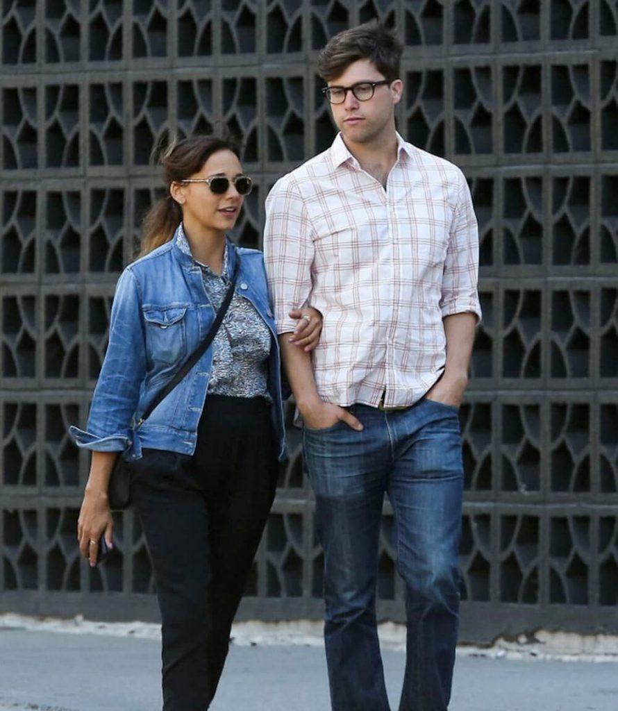 Rashida Jones and ex boyfriend Colin Jost