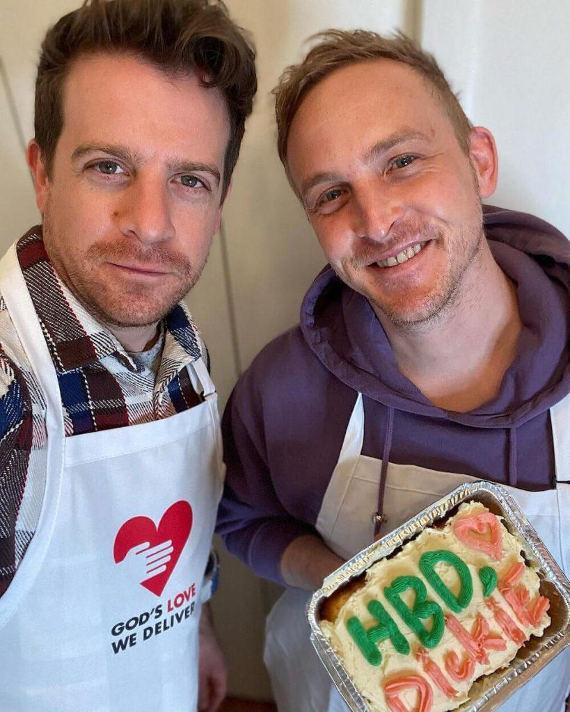 Robin Lord Taylor and Richard Dibella cooking