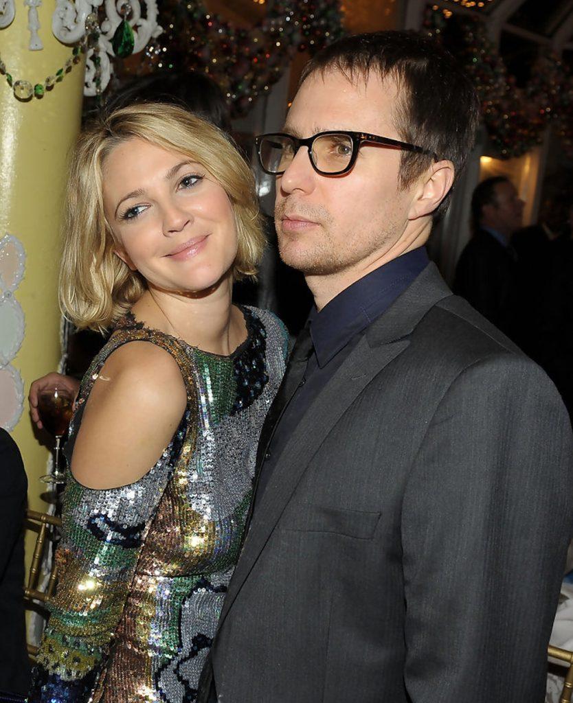 Sam Rockwell and ex girlfriend Drew Barrymore