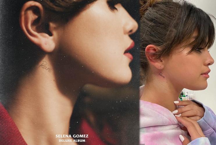 Selena Gomez Rare Neck Tattoo