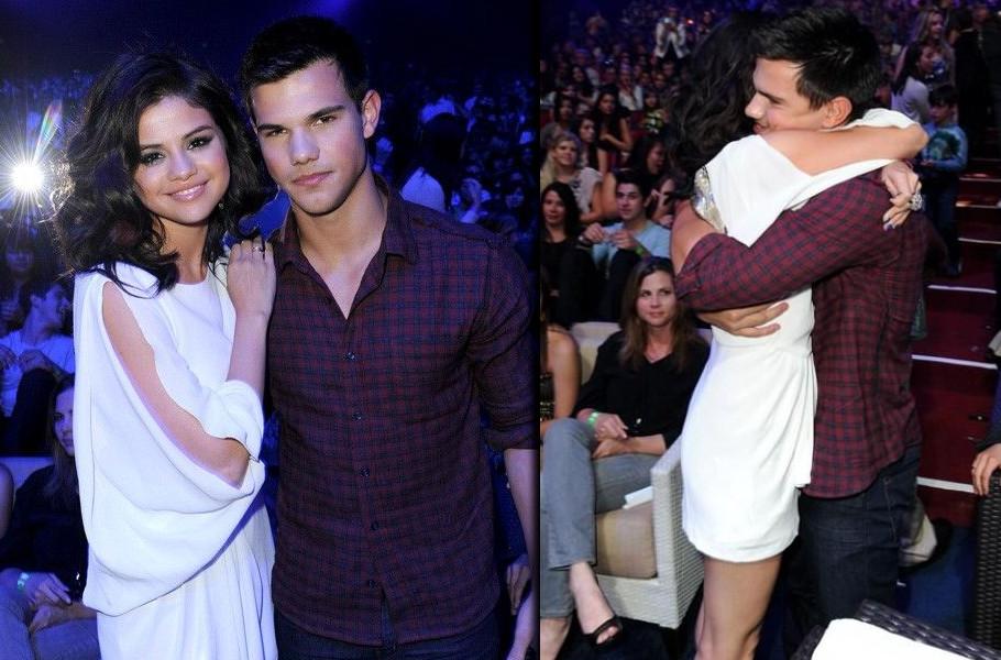 Selena Gomez with Taylor Lautner