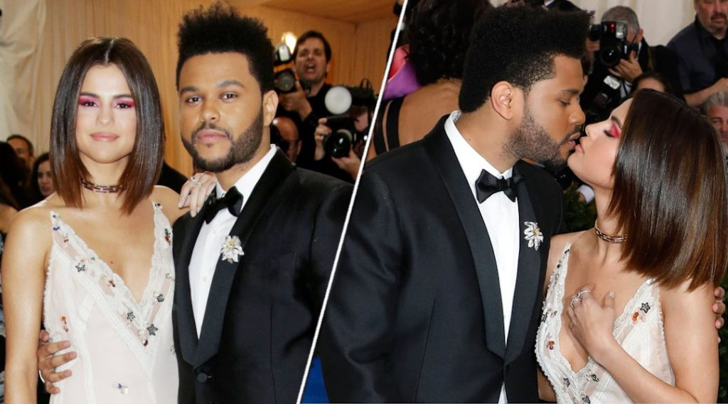 Selena Gomez with ex boyfriend The Weeknd