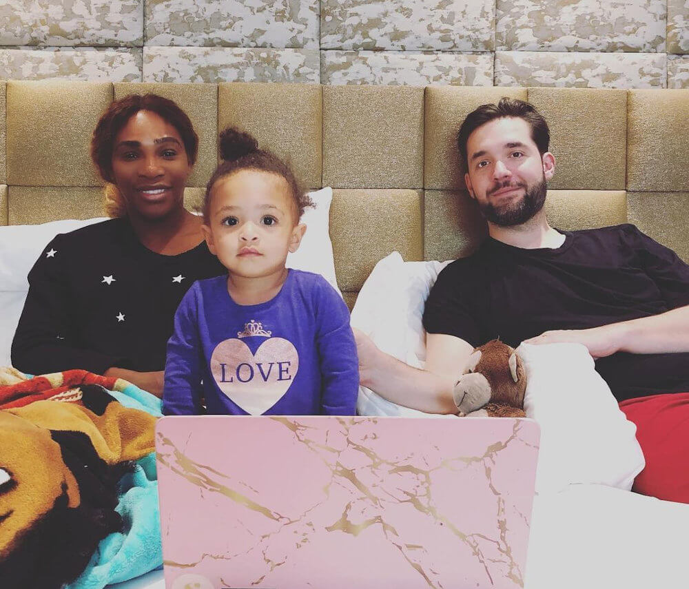Serena Williams, Alexis Ohanian, and daughter
