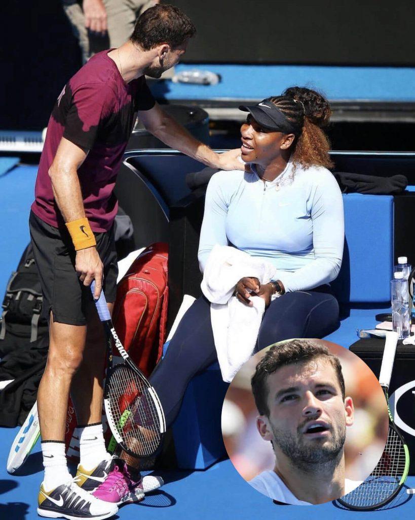 Serena Williams and ex Grigor Dimitrov