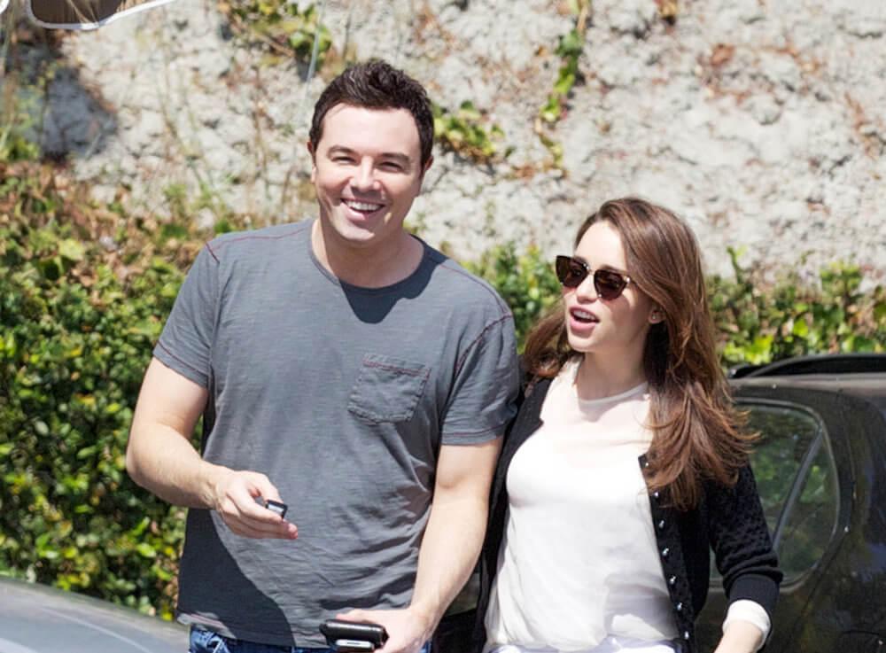 Seth MacFarlane and ex girlfriend Emilia Clarke