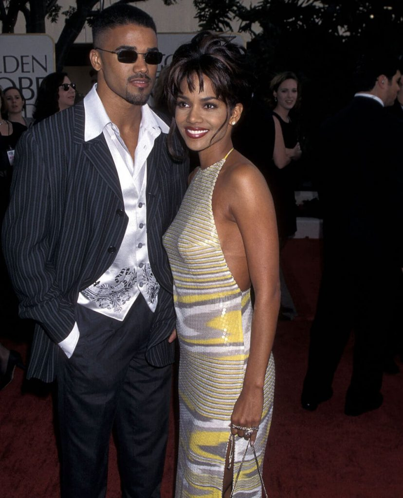 Shemar Moore and ex girlfriend Halle Berry