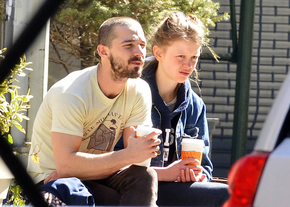 Shia LaBeouf and girlfriend Mia Goth